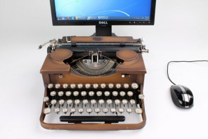 usb typewriter, usb schreibmaschine, schreibmaschine ipad, ipad typewriter, ipad gadget